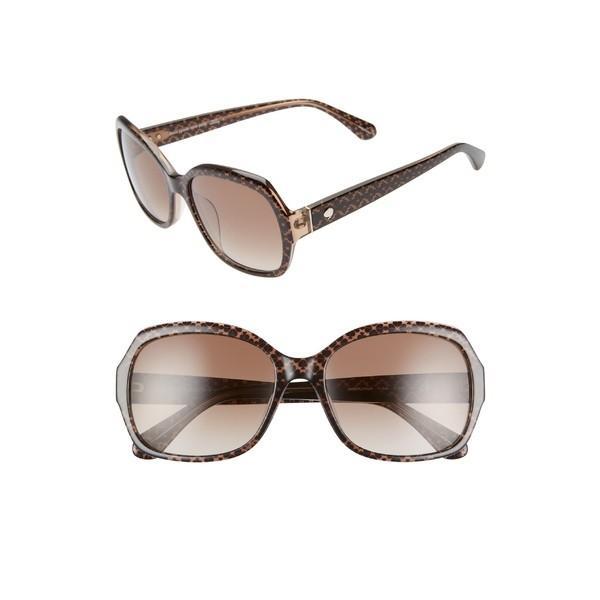 ケイト スペード サングラス&アイウェア アクセサリー レディース kate spade new york amberlynn 57mm sunglasses 褐色/ ゴールド