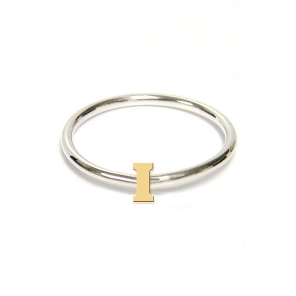 今年も話題の ジェインバシュデザインズ リング アクセサリー レディース Jane Basch Two-Tone Initial Ring Gold- I, 狛江市 b2717d24