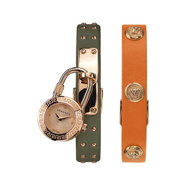 オリジナル ヴェルサーチ 腕時計 アクセサリー レディース Icon Versace Medusa Lock 腕時計 Icon 22mm Leather Strap Watch, 22mm Orange/ Bronze, なると小町:b5ba2666 --- airmodconsu.dominiotemporario.com