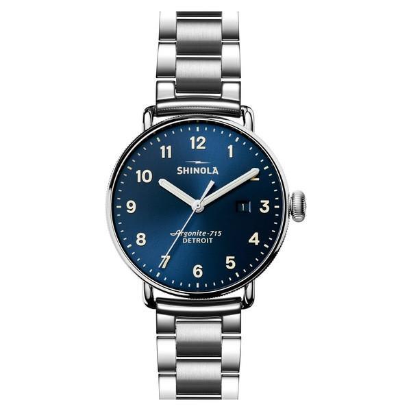 55%以上節約 シャイノーラ 腕時計 43mm アクセサリー Watch, レディース Shinola The Silver/ Canfield Bracelet Watch, 43mm Silver/ Midnight Blue, ヤマダ設備:d7f11046 --- airmodconsu.dominiotemporario.com