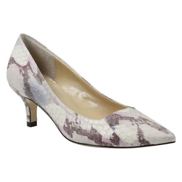 安いそれに目立つ ジェイレニー レディース パンプス シューズ レディース J. Rene Print Grey/ Estoria Pointy Toe Pump (Women) Grey/ Pink Print Leather, グラスマーブル:49860a04 --- sonpurmela.online