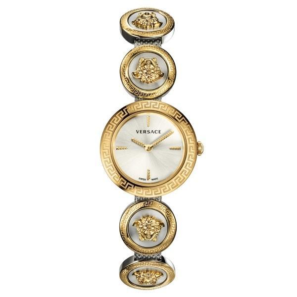【お気に入り】 ヴェルサーチ 腕時計 アクセサリー レディース Versace Medusa Stud Icon Bracelet Watch, 28mm Gold/ Silver, キツレガワマチ 87b37f4e
