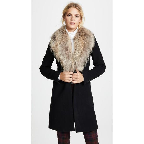 豪華で新しい サム Coat レディース ジャケット・ブルゾン アウター Crosby Crosby Wool Coat Black/Natural Black/Natural, 中古DVDもんきーそふと:0f8e0a34 --- sonpurmela.online