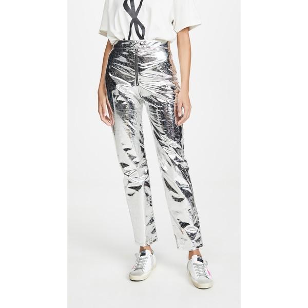 玄関先迄納品 エムエスジイエム レディース カジュアルパンツ ボトムス ボトムス Metallic Metallic Silver Trousers Silver, KamiCollection -髪コレ-:33ad0cbb --- sonpurmela.online