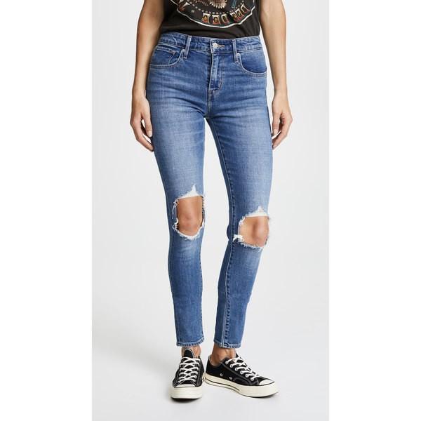出産祝い リーバイス レディース デニム Distressed ボトムス 721 721 Rugged High Rise Distressed Skinny Jeans Rugged Indigo, コントラストビューティー:dceece62 --- chizeng.com