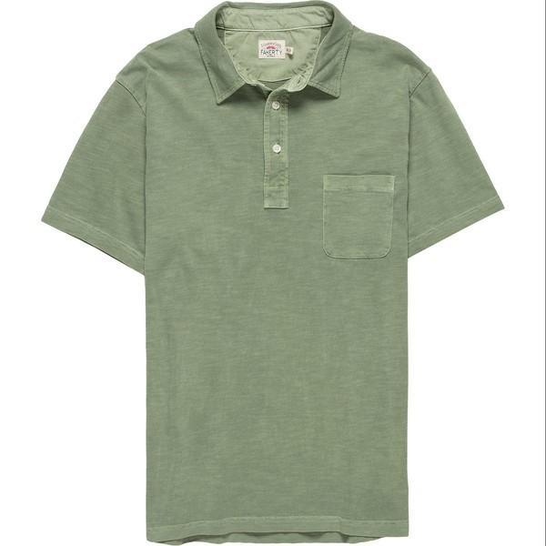 衝撃特価 ファエティ Spring ポロシャツ メンズ トップス Sunwashed Polo Olive Sunwashed Shirt - Men