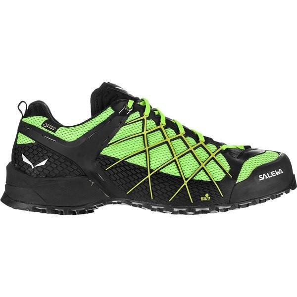 サレワ シューズ メンズ ハイキング Wildfire GTX Hiking Shoe - Men's 黒 Out/Fluo 黄