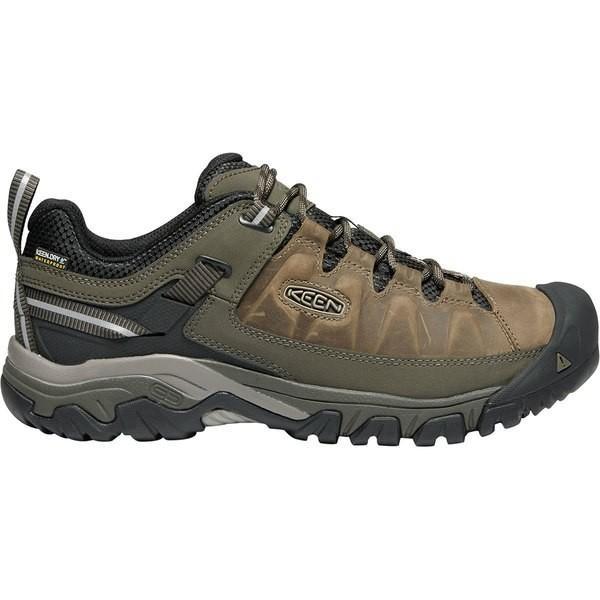 キーン シューズ メンズ ハイキング Targhee III Waterproof Leather Wide Hiking Shoe - Men's Bungee Cord/Black