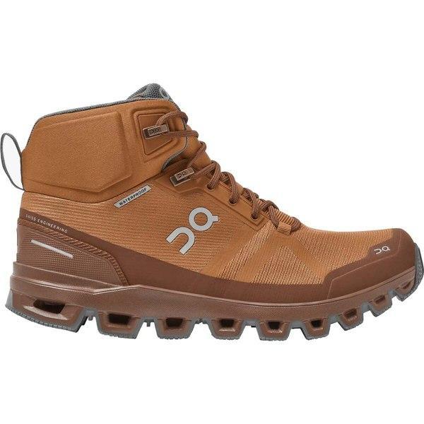 オン ランニング シューズ レディース ハイキング Cloudrock Hiking Boot - Women's Pecan/Rock