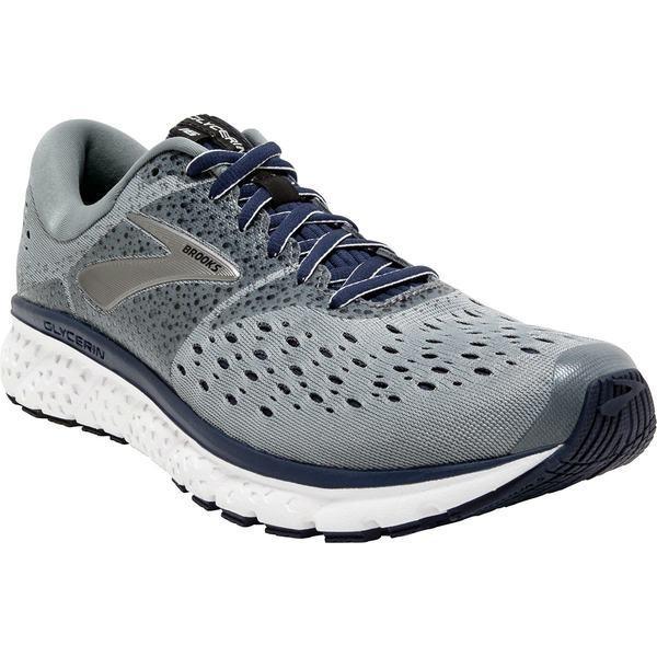 ブルックス シューズ メンズ ランニング Glycerin 16 Running Shoe - Men's グレー/Navy/黒