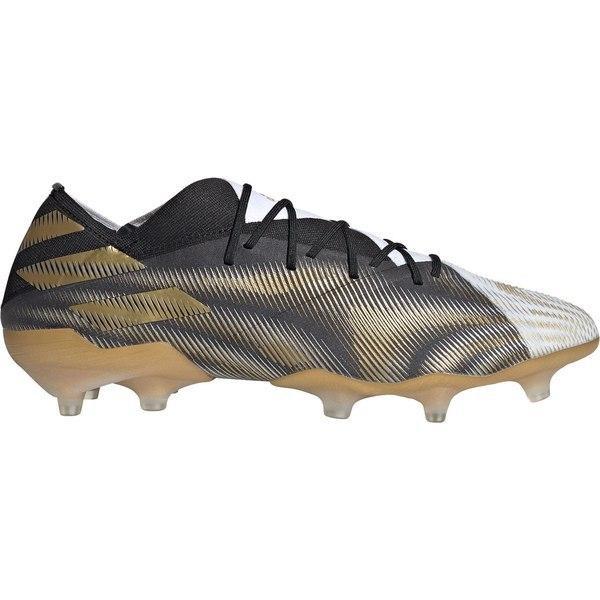 アディダス シューズ メンズ サッカー adidas Men's Nemeziz 19.1 FG Soccer Cleats White/Gold