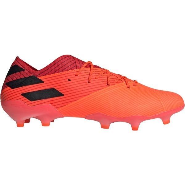 アディダス シューズ メンズ サッカー adidas Men's Nemeziz 19.1 FG Soccer Cleats Coral/Black