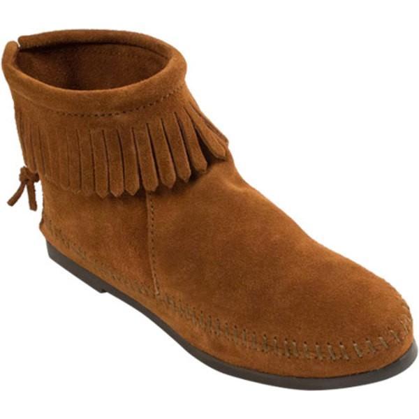 優先配送 ミネトンカ レディース ブーツ Boot&レインブーツ - シューズ Back Zipper Boot Medium - Suede Medium Brown, Aile Stat:788b41a1 --- fresh-beauty.com.au