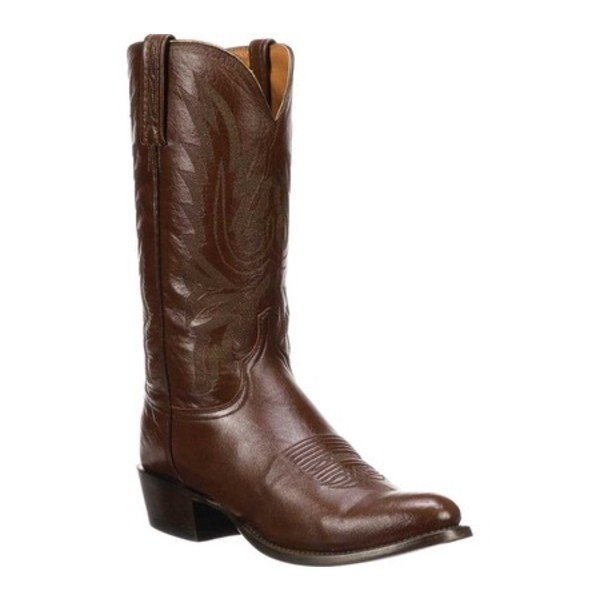 【時間指定不可】 ルケーシー M1021.R4 メンズ ブーツ Cowboy&レインブーツ シューズ M1021.R4 Rounded Toe Toe Cowboy Heel Boot Antelope Burnished Lodestar Calf Cowboy, 函南町:717fbea5 --- sonpurmela.online