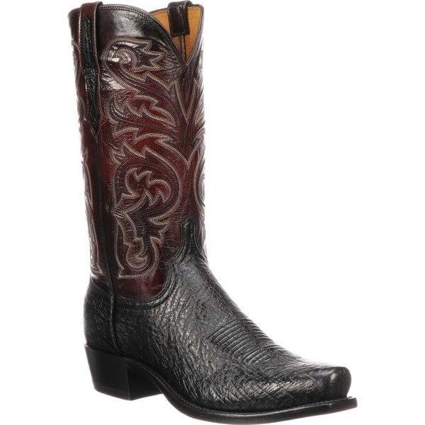 芸能人愛用 ルケーシー メンズ ブーツ&レインブーツ シューズ Nathan 7 Boot シューズ Toe Cowboy Cowboy Boot Black Ostrich, 丸島商事 インターネット事業部:8cff798a --- opencandb.online