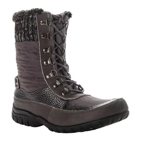 感謝の声続々! プロペット レディース ブーツ&レインブーツ シューズ Delaney Frost Mid Calf Boot Grey Leather/Nylon, PRONET SPORTS 0c2b3184