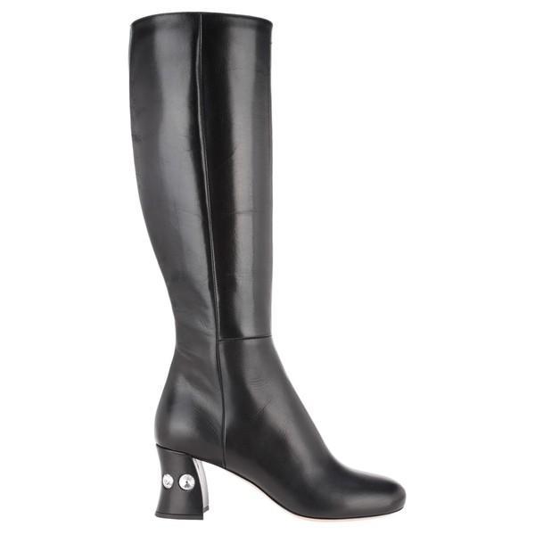 激安な ミュウミュウ ブーツ&レインブーツ Miu レディース シューズ Boots Miu Miu Crystals Embellished BLACK Heel Boots BLACK, 12g un deux galerie:ba123319 --- sonpurmela.online