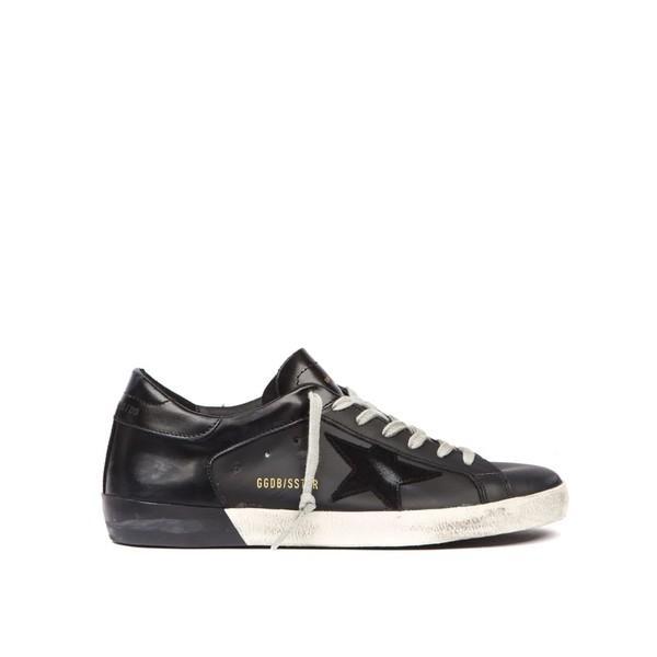 非売品 ゴールデングース スニーカー メンズ シューズ Golden Golden Goose Super シューズ Star メンズ Black Leather Sneaker Black, 品質満点:696e0284 --- lighthousesounds.com