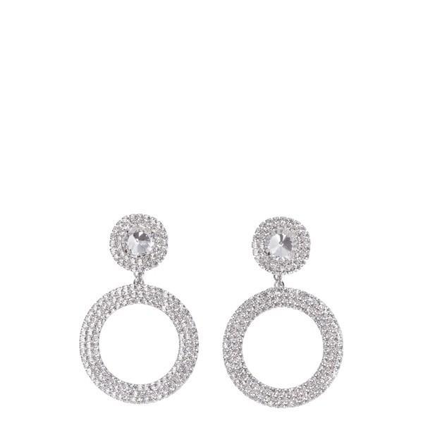 人気ブラドン アレッサンドラ With・リッチ ピアス Rich&イヤリング レディース アクセサリー Alessandra Rich Earrings Faba Maxi Earrings With Crystals Silver, ムカイシマチョウ:8b34eb17 --- chizeng.com