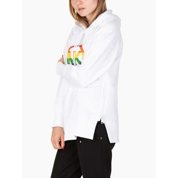 品多く マイケルコース パーカー・スウェットシャツ レディース アウター Michael Michael Kors Logo Logo Rainbow Kors Hoodie White, Back to MONO:236988eb --- chizeng.com