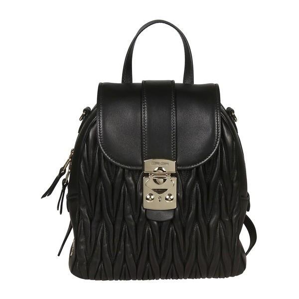 即日発送 ミュウミュウ バックパック・リュックサック レディース Miu バッグ Backpack Miu Miu レディース Quilted Backpack Black, コンタクトのLENS UP:c74faa6f --- levelprosales.com