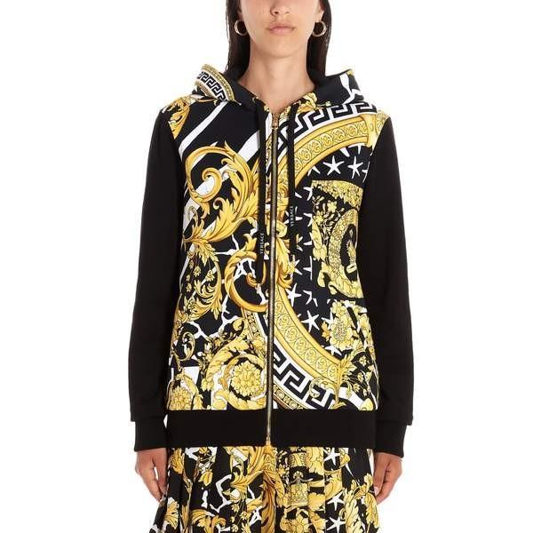 【オープニング 大放出セール】 ヴェルサーチ レディース ニット&セーター Hoodie レディース アウター Versace