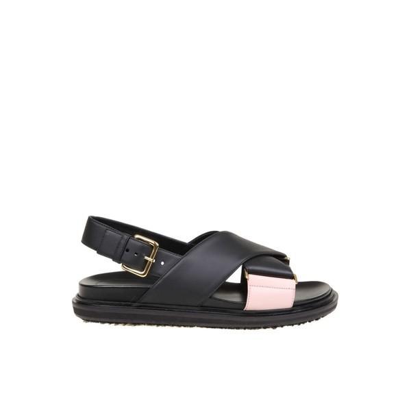 最大の割引 マルニ サンダル レディース シューズ In Marni Fussbett Sandal サンダル In シューズ Leather Color Black Black, アイカワマチ:8949f1a0 --- levelprosales.com
