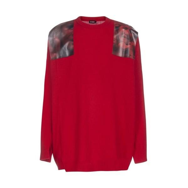 【超新作】 ラフ・シモンズ Simons ニット、セーター メンズ アウター アウター Raf Raf Simons Sweater Red, シューズショップ nonnonxx2001:081523de --- sonpurmela.online