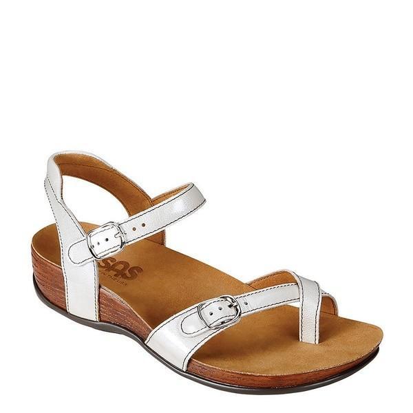 【数量は多】 エスエーエス レディース Leather サンダル シューズ レディース Pampa Leather Sandals Pearl White White, スマイルスタジアム:d85a10be --- sonpurmela.online