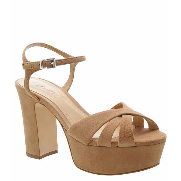 【初回限定お試し価格】 シュッツ Honey レディース サンダル シュッツ シューズ Platform Keefa Suede Platform Block Heel Sandals Honey Beige, 住設あんしんショップ:57cf1218 --- sonpurmela.online