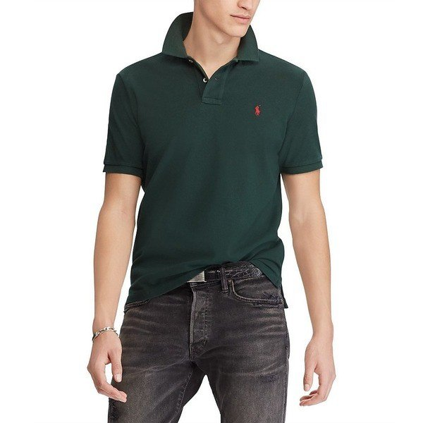 50%OFF ラルフローレン メンズ ポロシャツ Polo トップス メンズ Classic-Fit Solid Mesh Polo Shirt Solid College Green, Select Shop K-Mart:626071e6 --- sonpurmela.online