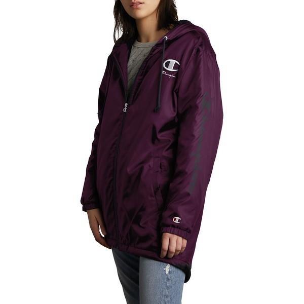 【通販激安】 チャンピオン レディース コート アウター Faux Fur Lined Stadium Jacket Venetian Purple, 東山堂 999083c0