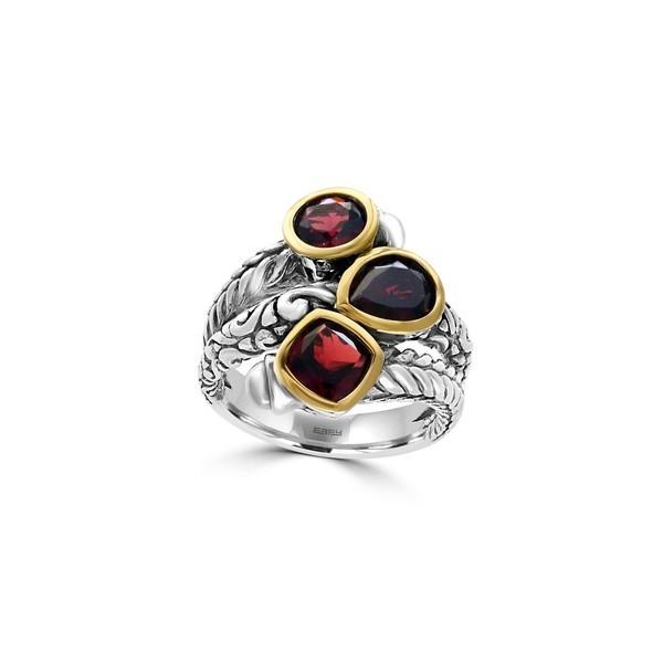 【ネット限定】 エフィー レディース リング アクセサリー 18K Yellow Gold, Semi-Precious Gemstone, and Sterling Silver Ring Garnet, 山本町 8f93e3ba