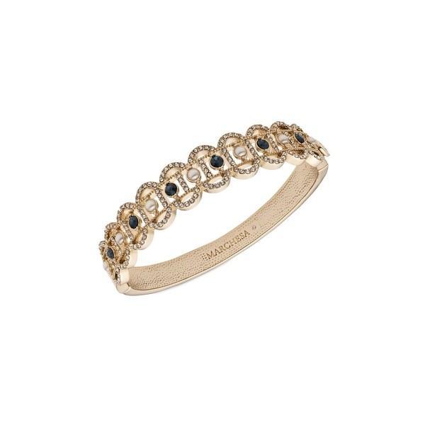 【2018最新作】 マルケッサ レディース ブレスレット・バングル・アンクレット アクセサリー Goldtone, Faux Pearl & Crystal Bangle Bracelet Gold, タマツクリマチ 69968801