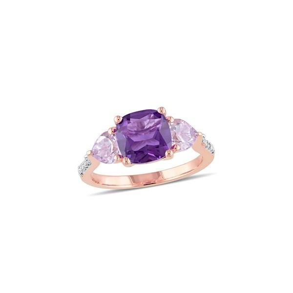 訳あり ソナティナ レディース リング アクセサリー Amethyst, Rose de France & Diamond Ring Rose Gold, まざっせこらっせ 1a1bd8f9