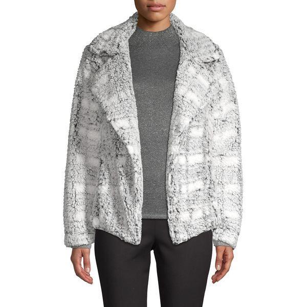 【初回限定お試し価格】 ヴィンスカムート レディース コート アウター Plaid Fuzzy Open Jacket Cool Dusk, オビラチョウ a1d79baf