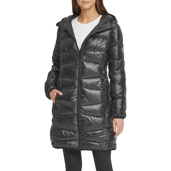 ダナ キャラン ニューヨーク レディース コート アウター Packable Puffer Jacket 黒