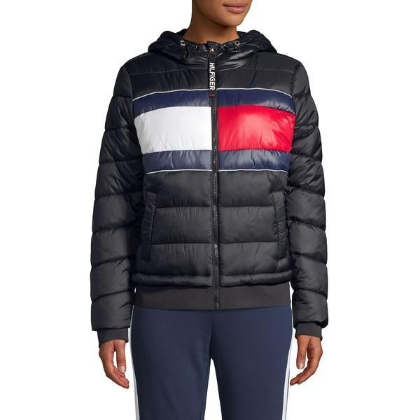 爆売り! トミーヒルフィガー レディース コート アウター Nylon Puffer Coat Black, Chargespeed official store 0d9d0004