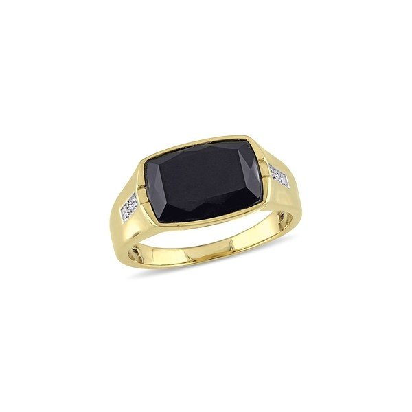 卸売 ソナティナ Ring レディース リング アクセサリー Black アクセサリー Onyx Diamond & 0.03 TCW Diamond Ring Black, 東根市:e4bfd394 --- airmodconsu.dominiotemporario.com
