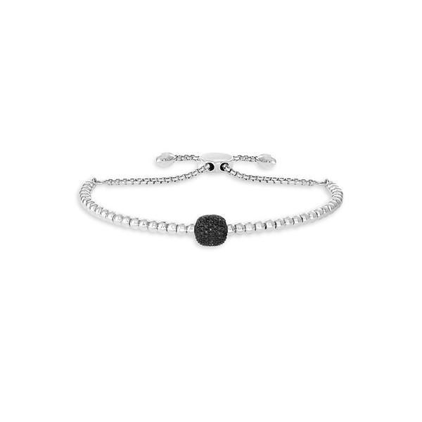 数量限定セール  エフィー レディース ブレスレット・バングル・アンクレット アクセサリー Sterling Silver & Black Diamond Slider Bracelet Silver, redycoco 95be204e