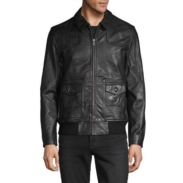 新しい到着 ジョンバルバトス Black メンズ Leather ジャケット&ブルゾン アウター Full-Zip Leather アウター Jacket Black, 東京リサイクルショップ:e767d468 --- sonpurmela.online