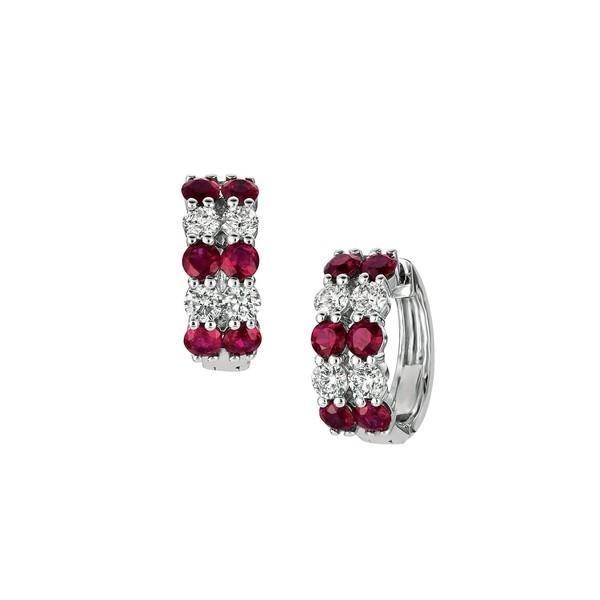 最新コレックション モリスアンドデイビッド Earrings レディース Red ピアス&イヤリング アクセサリー 14K White White Gold, Ruby & Diamond Hoop Earrings Red, 【即日発送】:23089418 --- airmodconsu.dominiotemporario.com