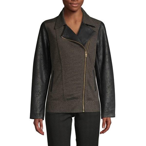【内祝い】 ジョーンズニューヨーク レディース コート アウター Twill Notch-Collar Jacket Black, 元祖まな板本舗 1bad6164