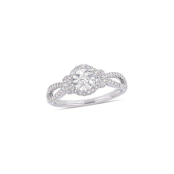 【在庫有】 ソナティナ レディース リング アクセサリー Sterling Silver & Diamond Engagement Ring Silver, 五代目 常造 dc446b30
