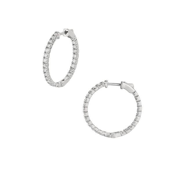 【特別セール品】 モリスアンドデイビッド レディース Earrings ピアス&イヤリング レディース Gold アクセサリー 14K White Gold & Diamond Hoop Earrings White Gold, コモロシ:662ce7d6 --- airmodconsu.dominiotemporario.com