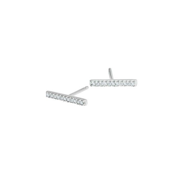 愛用 アディナ Core レイター レディース ピアス&イヤリング Silver アクセサリー Core Bar Sterling Silver & Diamond Bar Earrings Silver, 三京商会 ファー コート 財布 毛皮:3408e728 --- airmodconsu.dominiotemporario.com