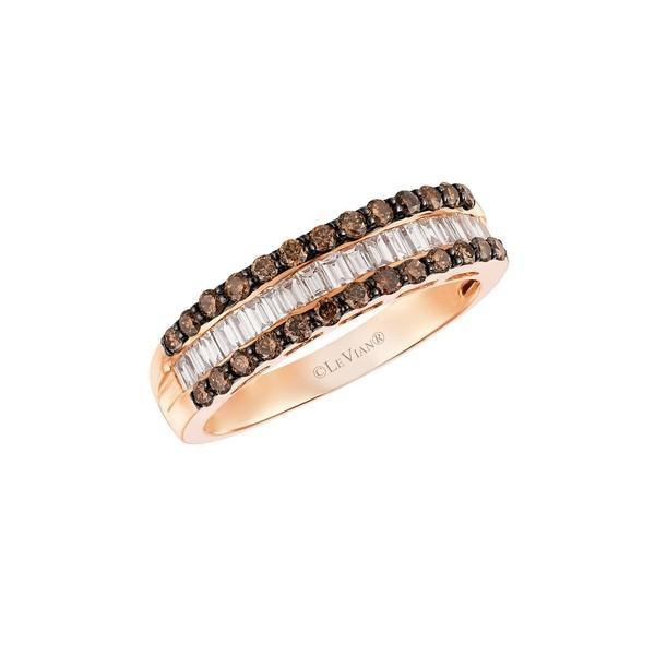 予約販売 ルヴァン レディース リング アクセサリー Chocolatier Chocolate and Vanilla Diamonds Ring in 14k Strawberry Gold Rose Gold, アメカジのバックドロップbackdrop 7c0d8c8e