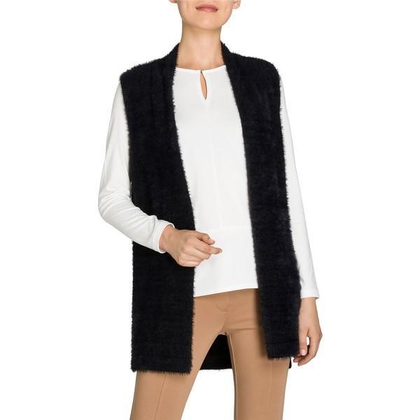 【特別セール品】 オルセン レディース コート アウター Golden Glam Teddy Yarn Faux Fur Vest Black, ニュウゼンマチ fa121b70