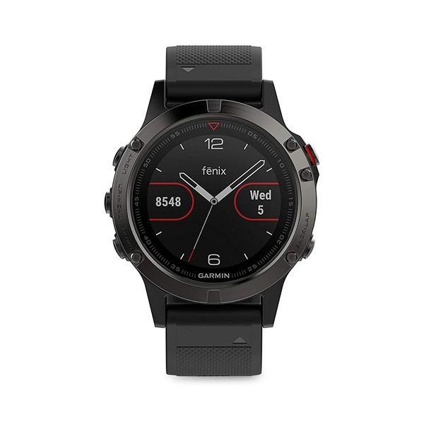 【再入荷】 ガーミン レディース 腕時計 アクセサリー Fenix 5S Silicone-Strap Smart Watch Black, 相良町 c2ae7c36