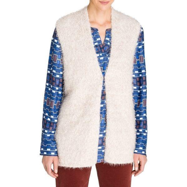 見事な オルセン レディース コート アウター Loop Yarn Vest Cream, 安売り天国とせん 33b6da5e